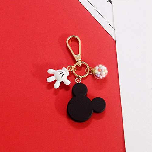ZNXHNDSH HND Fashion Cute Keychain PVC Cartoon Figure Mickey Super Mario Trolls Key Chain i Anime Key Ring Key Holder (Color : 1)