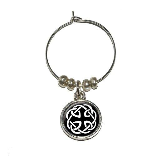 Celtic Knot Wine Glass Charm Drink Stem Marker Ring