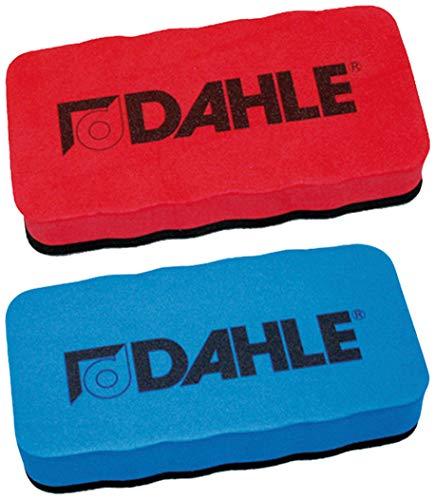 Dahle Esponja para pizarra blanca (borrador magnético para limpieza en seco en muchas superficies), color azul (esponja, azul, 1) (paquete doble de esponja rojo/azul)