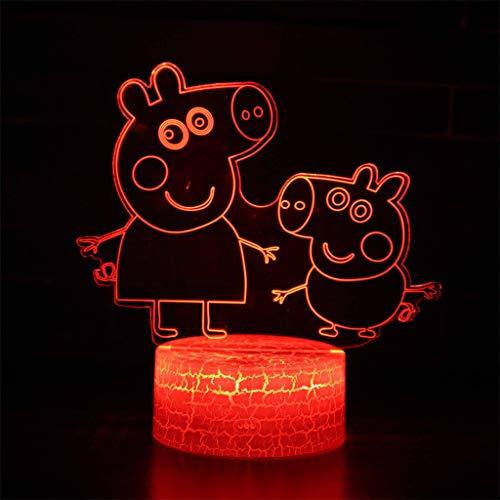 Lampe à économie d'énergie 3D Night Light/LED, 7 couleurs, Lampe de chevet, lampe de nuit, éclairage de chevet, Sculpture, Chambre à coucher, Bar, Décoration de bureau