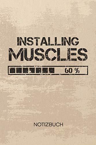 NOTIZBUCH A5 Dotted: Bodybuilder Notizheft GEPUNKTET 120 Seiten - Körperkult Notizblock Installiere Muskeln Skizzenbuch - Bodybuilding Geschenk für Bodybuilder Kraftsportler Fitnesstrainer