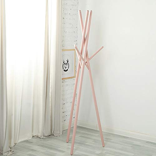 GWLGWL Perchero de Pie Moderno de Recibidor con 6 Ganchos o Colgadores, Perchero de Estilo Minimalista Bambú para Ropa o Bolsos, Fácil de Instalar Duradero en Uso, 174cm Color Morandi