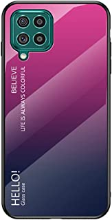 Hicaseer Case for Galaxy M62,Anti Scratch Gradient Colour Glass Back Case Soft TPU Silicone Cover Shockproof Hard Back Cas...