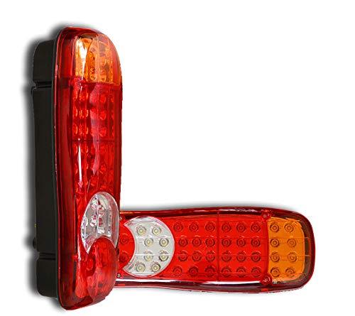 2 x 12 V 45 SMD LED Universal Rücklichter Rücklicht Multifunktions Lampen für LKW, LKW, Anhänger, Wohnwagen, Wohnmobil, Wohnwagen, Pickup, Auto, Bus, Tun, maßgeschneiderte Projekte