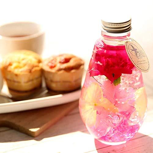 母の日のプレゼントカーネーションおいもやケーキ洋菓子花とスイーツハーバリウムアレンジメント母の日ギフト(ワインレッド)
