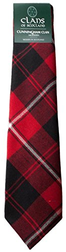 I Luv Ltd Cunningham Clan 100% Wool Scottish Tartan Tie