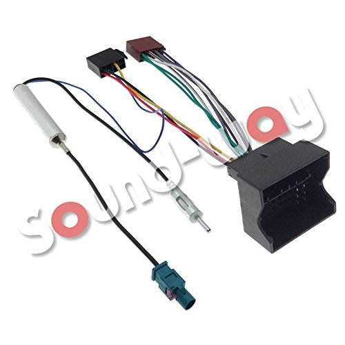Sound-way Cable Adapter ISO Autoradio und Adapter Fakra kompatibel mit Peugeot 207, 307, 407, 1007