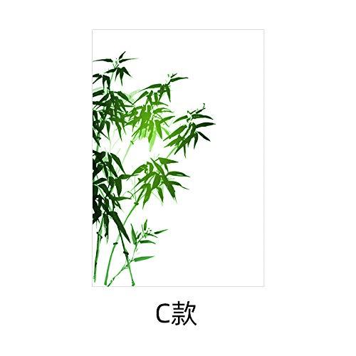 eesdfs Decorativos Puertas De Cristal Decoración del Hogar Vinilo para Ventana De Bambú Adhesivo Opaco Translúcido Tipo C_45X60Cm