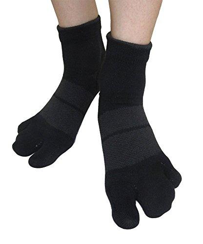 【公式】外反母趾・浮き指のカサハラ式/AKA-009NEWホソックス ( ブラック&チャコールグレー,24-26)