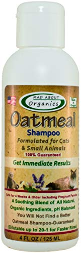 Mad About Organics Oatmeal Shampoo formulated for Cats and Small Animals