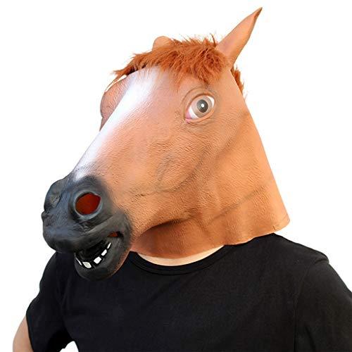 HS-ZM-06 Halloween Maske Tier Kopfbedeckung Lustige Maske Terrorist Streich Requisiten Rollenspiele Zubehör Spukhaus Bar Party Dekoration Karneval Maske,Braun
