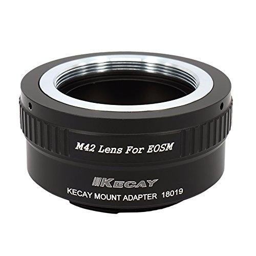 KECAY® Objektiv Adapter M42 42mm Screw Mount Objektiv für Canon EOS M (EF-M) Kamera, EOS M, M2, M3, M10