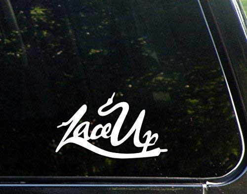 SUPERSTICKI Lace Up - MGK Die Cut Decal Bumper Sticker for Windows, Cars, Trucks, ca. 20cm Aufkleber Autoaufkleber Wandtattoo