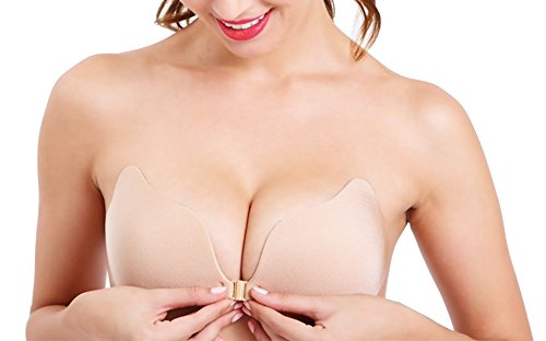 Minitouch Gathered Silicone Bra Invisible Strapless lite Bra Self Adhesive Push Up