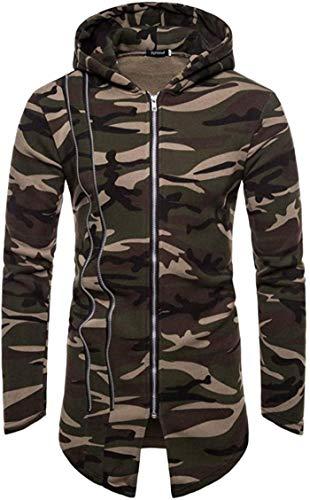 Latoshachase Men's Coat, Hooded Camouflage Zipper Jacket Cardigan Long Sleeve Outwear Blouse