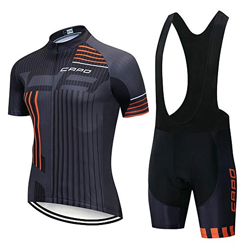 STEPANZU Maillot Cyclisme Pro Homme Vêtement Vélo + Cuissard Tenue VTT Combinaison Respirant Séchage Rapide Ensemble Cycliste Homme Ete