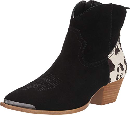 Dingo Womens Black Buck The Rules 6in Western Ankle Boots Leather 9.5 M