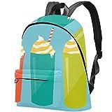 Computer Games DoodlesDIY - Patrón personalizado personalizado, gran capacidad, mochila duradera, bonita mochila impermeable para portátil Bebidas dulces-Vector-Ilustración 17.3x13.7x5.5 in