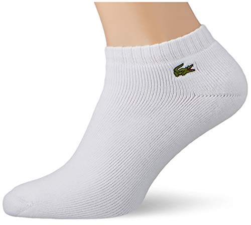 Lacoste RA2061 Calcetines, Blanc/Argent Chine, 36-40 para Hombre