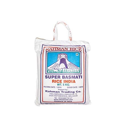 MyTNN 1x 10KG Super Basmati Rahman Rice, Basmati Rice, Basmatireis, LANGKORNREIS, Premium langkörniger Reis, Super Basmati Reis, Reis für Thagig , Basmati Rijst