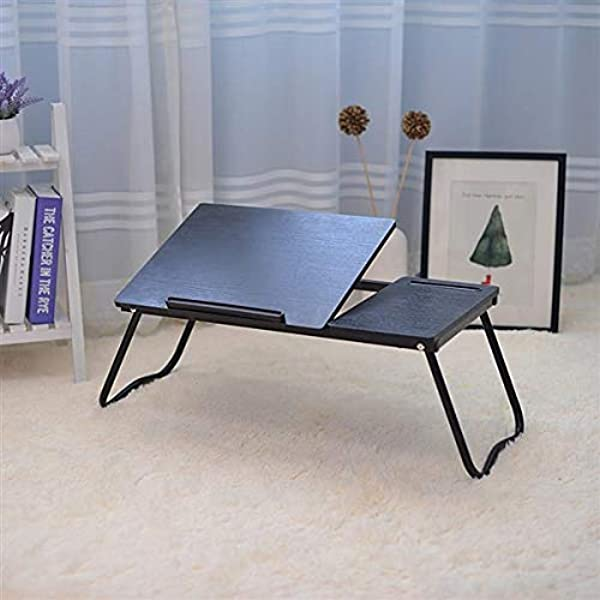 Laptop Stand Desk For Bed With Tablet Stand Slot YOSHIKO Adjustable Laptop Table Bed Desk Foldable Standing Desk For Writing In Sofa And Couch Wood Laptop Desk For Lap Lap Desk Bed Trays For Eating