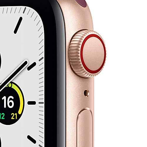 AppleWatch SE (GPS+ Cellular, 40mm) Aluminiumgehäuse Gold, Sport Loop Pflaume