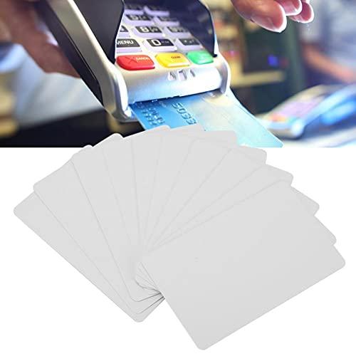 NFC-smartkortmärken, 10st NFC-kontaktlöst smartvitt kortmärke, S50 IC 13,56MHz RFID-läsbart skrivbart åtkomstkort, används hemma, skolan, kontoret, motorvägen