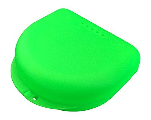 Caja pequeña para ortodoncia, frenillos, aparato dental, protector bucal (Spring Green)