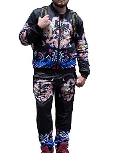 Sankthing Sankt - Sillón de terciopelo para hombre, estilo chino, tamaño grande, dos piezas, Igual a la foto, Large