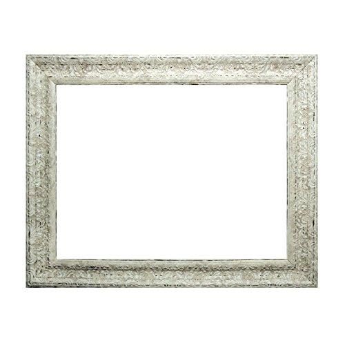 Barockrahmen weiß fein verziert 843 AVO, Leerrahmen, 50x70 cm