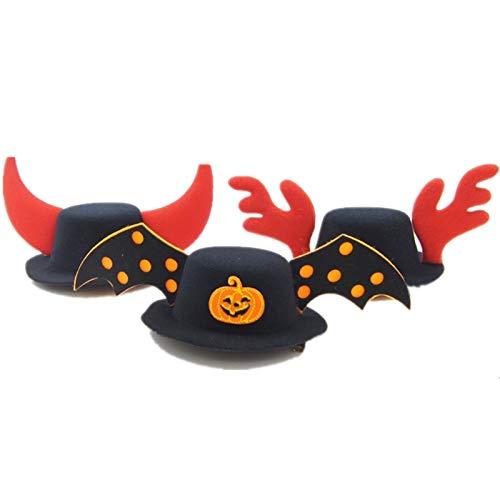 YANQIN Disfraz De Halloween para Gato, Gato Perro Mascota Calabaza Divertida Halloween Calabaza Headwear con ala 1 Pieza para Halloween Navidad Festival