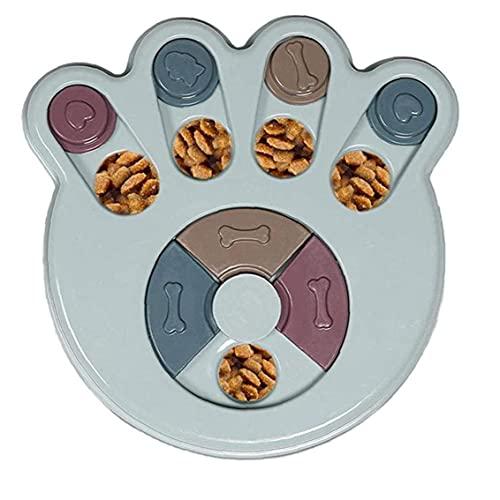 Alimentador de perros No resbalón Juguetes de plástico Estimulación interactiva Perro juguetes Juegos de cerebro Entrenamiento Azul