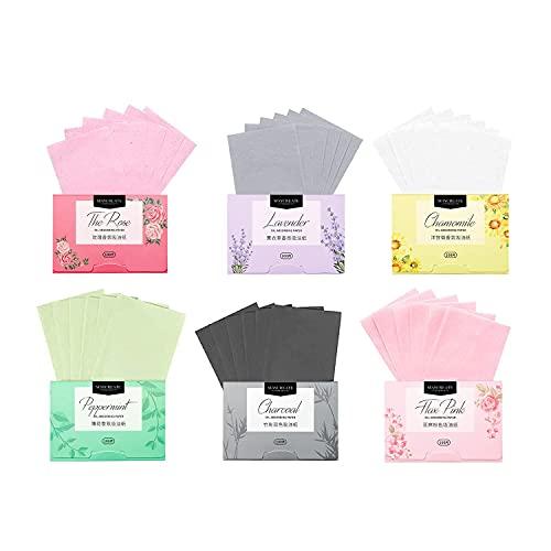Gesichts-Löschpapier, LuLyL 600 Stück Gesichtsöl-Löschpapier Natürliches Öl absorbierende Blätter Gewebe Gesichtspflegeöl Kontrollfilm Öl absorbierende Blätter für Frauen, Männer.