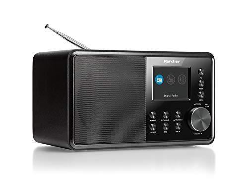 Karcher DAB 3000 Digitalradio (DAB+ / UKW-RDS, AUX-IN, Wecker mit Dual-Alarm) schwarz