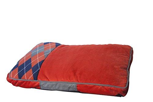 Fancypets TX10509 Colchoneta London Rojo con Cuadros, 85 x 60 cm