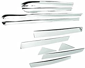 SHIPPING FROM USA Combo Chrome Lower Body Side Moldings+Stainless Steel Pillar Posts For 2012-2015 Toyota Prius