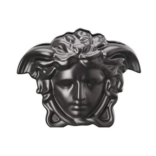 Versace by Rosenthal - vaas - Medusa Grande - zwart - hoogte: 21 cm - porselein - super edel en luxueus