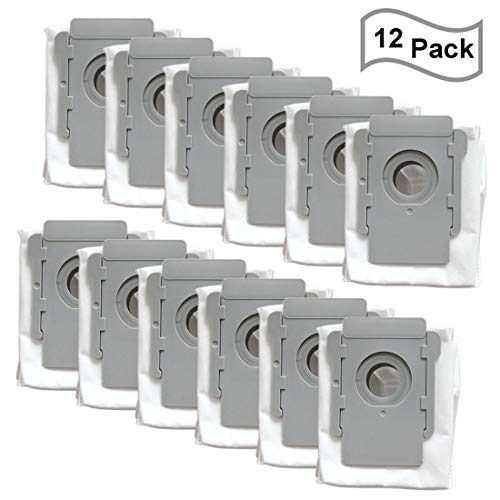 FATATP 12 Pack Vacuum Bags for iRobot Roomba i & s Series i7(7150) i7+ i7Plus(7550) s9(9150) s9+ s9 Plus (9550, 955020) Robot Vacuum Cleaner with Clean Base Automatic Dirt Disposal Bags Bags Canister Dining Features Kitchen