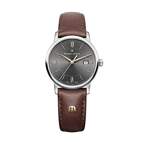 Maurice Lacroix Damen Analog Quarz Uhr mit Leder Armband EL1094-SS001-311-1
