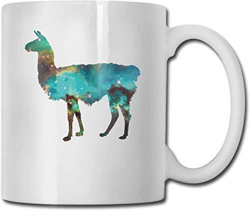 Taza de café blanca de cerámica única de camello estrellado, taza de té para oficina, hogar, diversión, regalo novedoso, taza de bebida divertida de 11 oz para hombres y mujeres