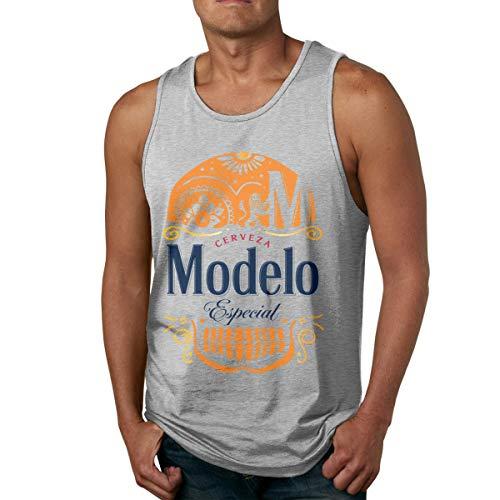 Modelo Beer Man Camisa sin Mangas de algodón para Hombre, usada por Fuera o por Dentro