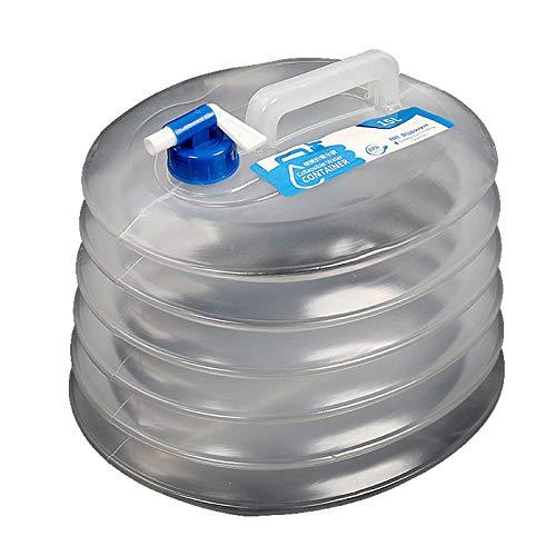 Gnohnay 2PCS Cubo de Agua Plegable de 10L / 15L, Cubo de Almacenamiento de Agua Potable, Tanque de Agua Portador de Agua Sin BPA para Escalada, Picnic, Barbacoa,15