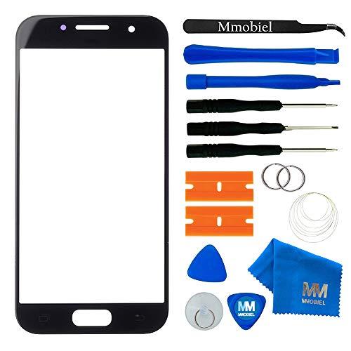 MMOBIEL Front Glas Reparatur Set kompatibel mit Samsung Galaxy A3 A320 (2017) Series (Schwarz) Display mit Werkzeug-Set