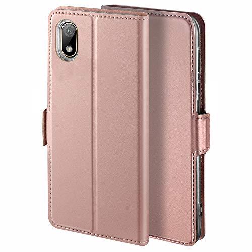 YATWIN Handyhülle für Huawei Y5 2019 Hülle Premium Leder Flip Hülle Schutzhülle für Huawei Y5 2019 / Honor 8S Handytasche, Rose Gold