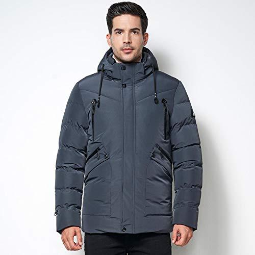Männer Winter Brand Kleidung Kapuze Fleece Jacke Parka Warmer Mantel Männer Business Casual Dicker Thermal Waterbreaker Mantel Parka Männlich XXXL Gra