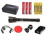Linterna Trustfire TR-3T6-3 Led CREE XML-T6-6000 lm 3 baterias … (Kit Nº3 (Kit de caza completo))
