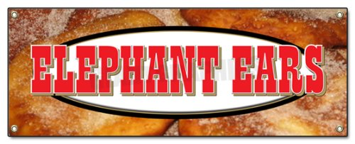 """72"""" Elephant Ears Banner Sign concessions Signs Ear"""
