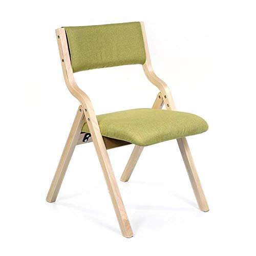 Nuokix Folding Chairs, Wooden folding chair Eat chair Camping Outing
