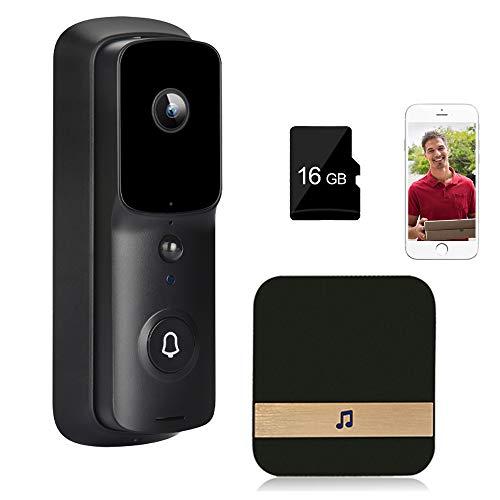 LXYDD Video Türklingel mit Kamera,Drahtlose Video Doorbell mit 32GB Speicherkarte 1080P HD Türklingelkamera,Berwachungskamera Zwei-Wege-Audio wasserdichte PIR Personenerkennung,TF32G