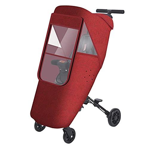 ZYZY Cubierta universal para la lluvia para cochecito de bebé, cochecito de bebé, protección contra la intemperie, resistente al viento, protege del polvo y la nieve